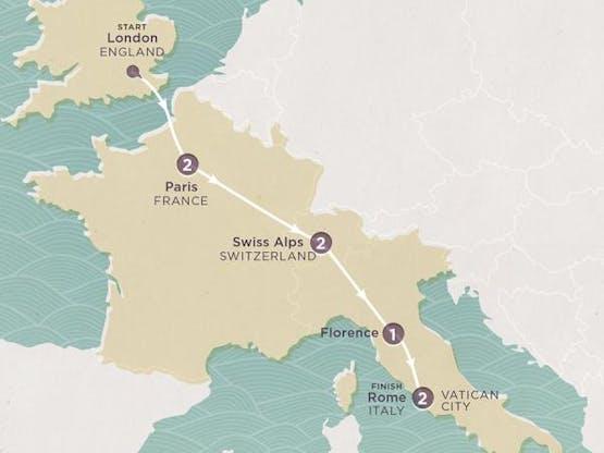 Mochilão® França, Suíça e Itália