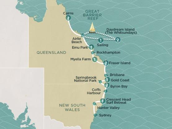 Mochilão® Costa Australiana: Sydney a Cairns